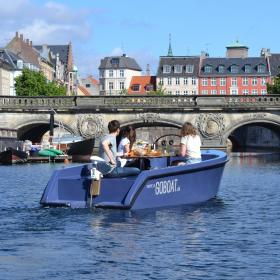 Goboat in the canal of Copenhagen