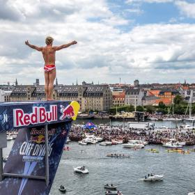 Redbull diving event Copenhagen