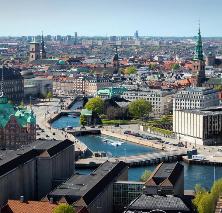View of Copenhagen city