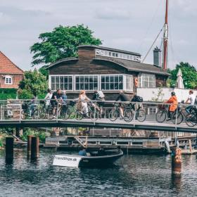 Bikes on bridge in Christianshavn